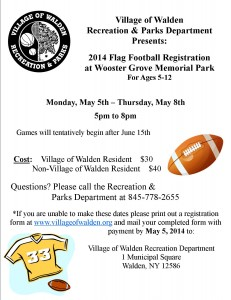 Flag football Flyer 2014