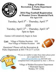 Flag football Flyer 2016